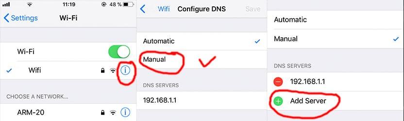 DNS iOS